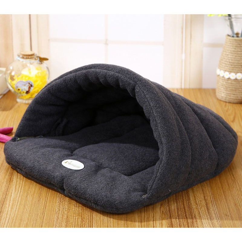 High Quality Pet Cat Bed Small Dog Puppy Kennel Sofa Polar Fleece Material Bed Pet Mat Cat House Cat Sleeping Bag Warm Nest