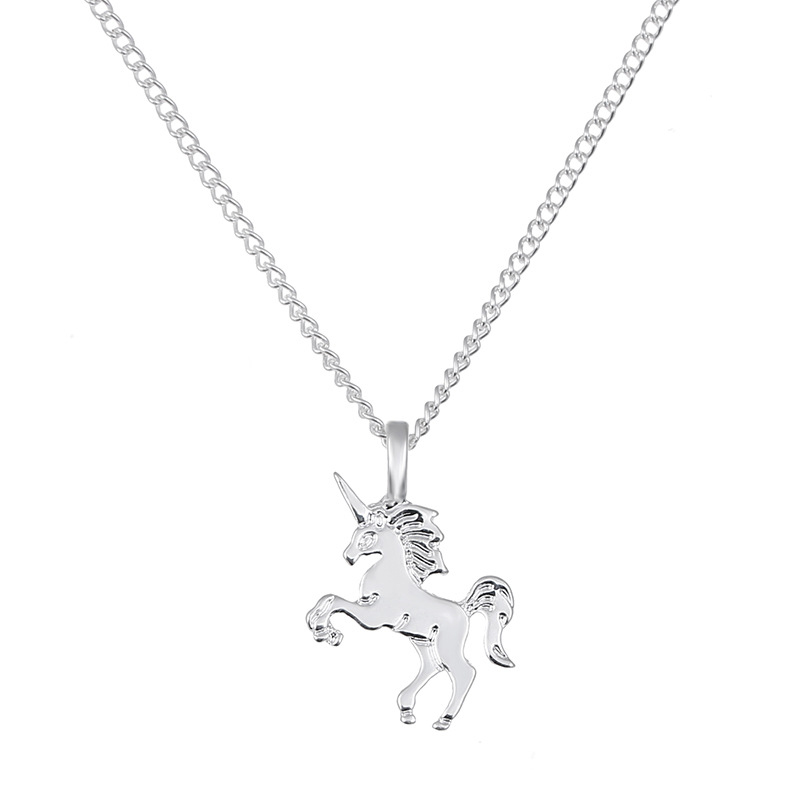 New Necklace For Girls Children Kids Enamel Cartoon Horse jewelry accessories Women Animal Necklace Pendant Party Girl Gifts