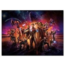 Мстители фильм плакат супер герой es настенный плакат украшения спальни шелковое искусство Большой размер картина герой