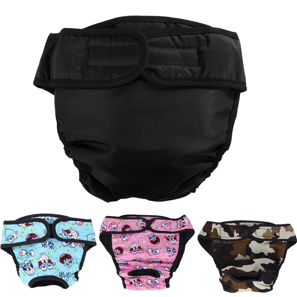V-Hao 2 Pack Pet Diapers Large Breed Physiological Pants Reusable Adjustable Dog Diaper