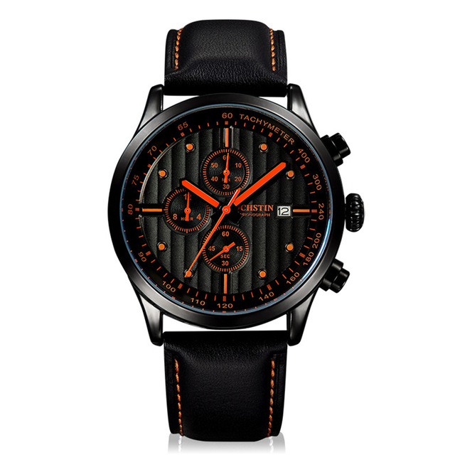 Top Luxury Brand Ochstin Men Sports Watches Men's Quartz Date Leather Army Military Wrist Watch Relogio Masculino Clock Man top brand luxury waterproof men sports watches men s quartz led digital clock male army military wrist watch relogio masculino