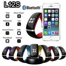 วงสมาร์ทL12S OLEDบลูทูธS Martbandสร้อยข้อมือข้อมือนาฬิกาสปอร์ตการออกแบบสายรัดข้อมือสำหรับโทรศัพท์IOS A Ndroid W Earableอิเล็กทรอนิกส์