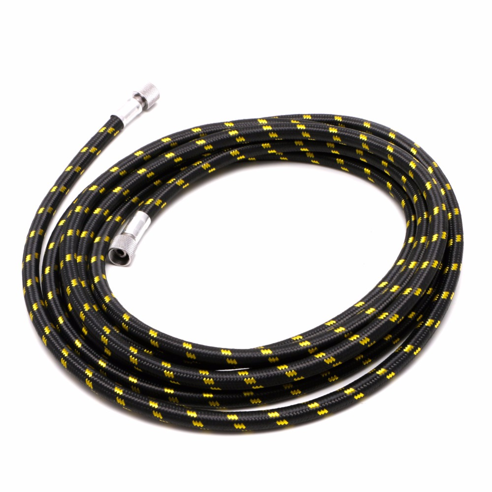 1Pc 3m 1/8 to 1/8 Spray Pen Woven Pipe Braided Nylon Airbrush Air Hose L15