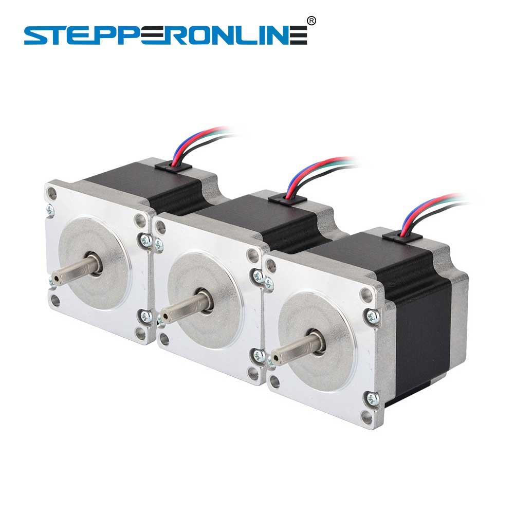 3 PCS Nema 23 Stepper Motor 1.26Nm (178.4oz.in) 56mm 2.8A 4-blei Nema23 Schritt Motor 6,35mm Welle für CNC Mühle Drehmaschine Router