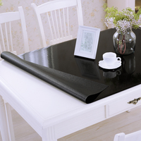 Black color matte non slip PVC tablecloth Soft glass waterproof oilproof table mat party table decoration cover dining table pad