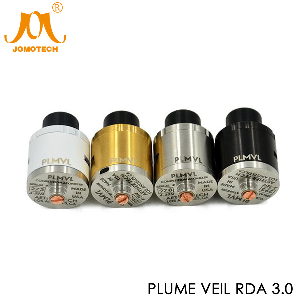 304 Stainless Steel Plume Veil 3.0 RDA Atomizer 22mm 18650 Plume Veil Rebuildable Vapor Atomizer for RX300W Box Mod Jomo-261