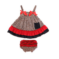 2Pcs Baby Clothing Set Rompers Newborn Baby Girl Clothes Dress Disfraces Vestidos Bebes Menina Baby Layette