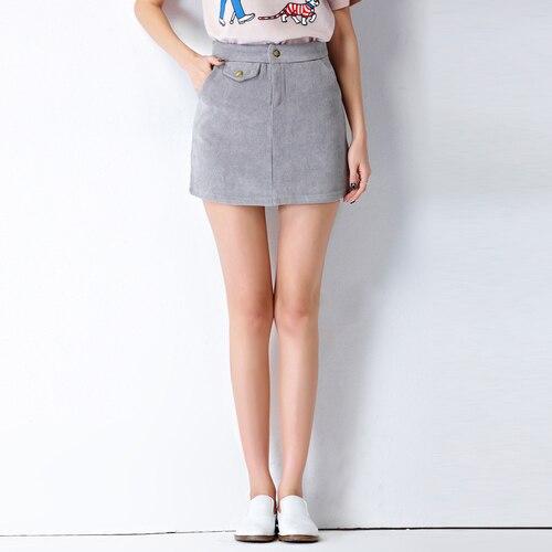 Lolita Women Skirt 2017 Japanese Style Casual High Waist A Line Black Mini Skirts Corduroy Pink Ladies Skirt saia de couro