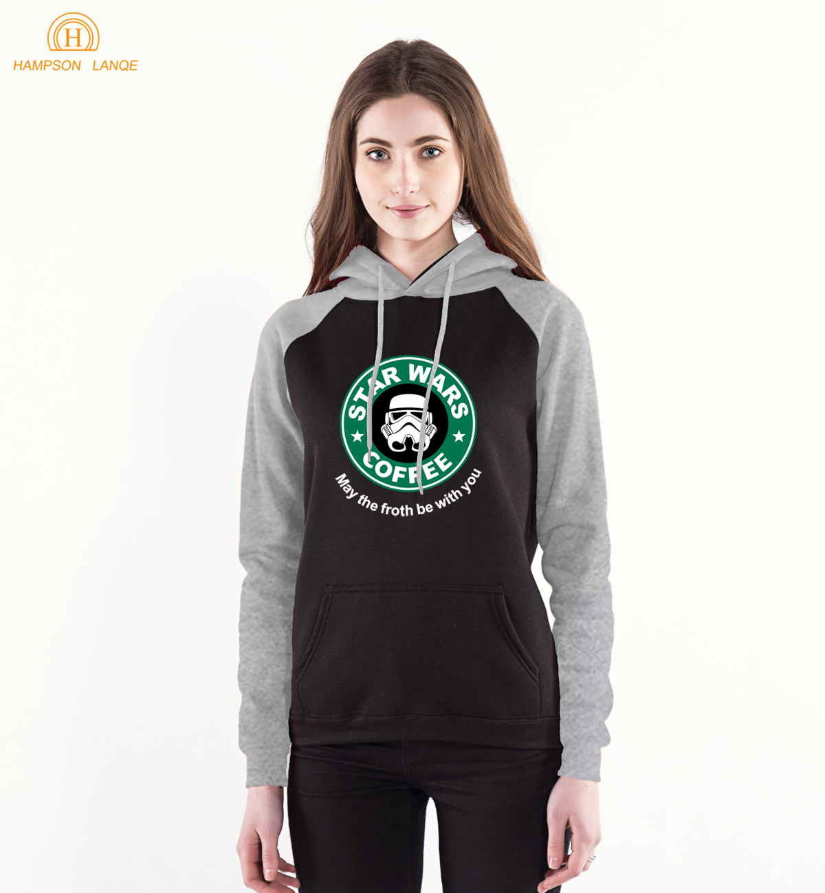 Star Wars Coffee Raglan Hoodie Women 2019 New Style Casual Sweatshirts Hoodies Women's Spring Autumn Warm Hoody Brand Clothing