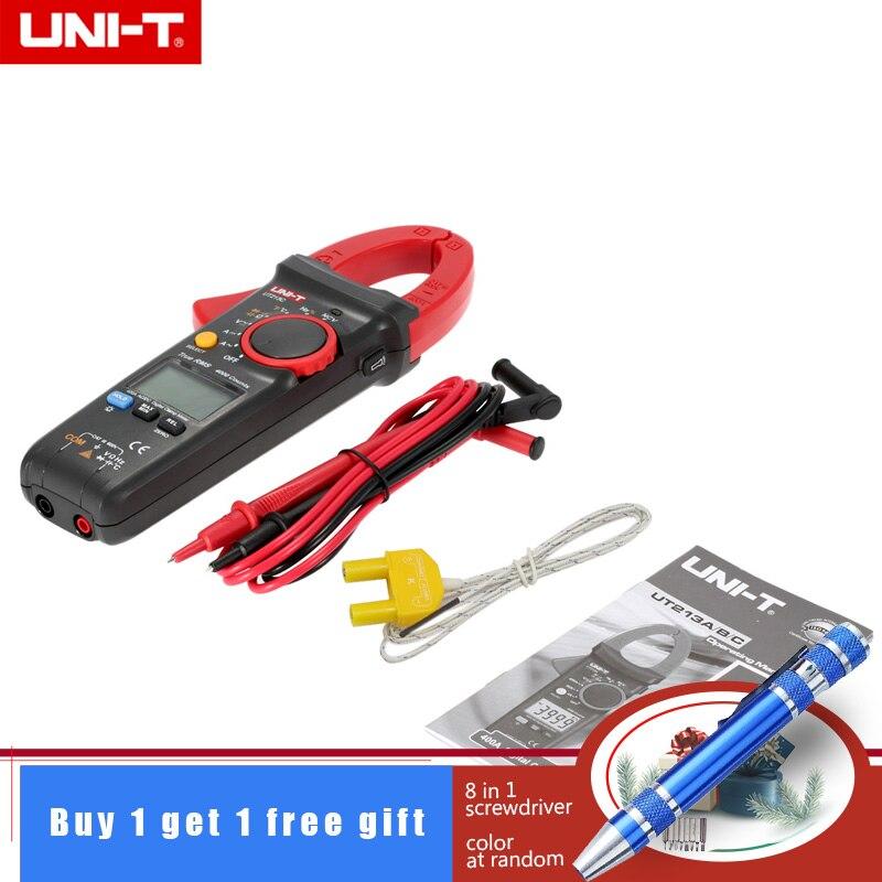 UNI-T UT213C цифровой клещи мультиметр AC/DC 400.0A Напряжение Ток Сопротивление диод емкости непрерывности НТС температура