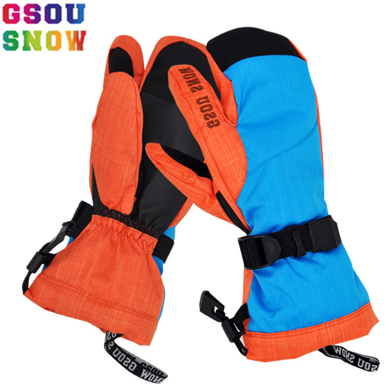 GSOU SNOW Brand Ski Gloves Women Snowboard Gloves Winter Waterproof Skiing Snowboarding Snow Female Ski Mittens Windstopper