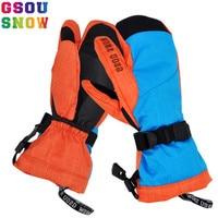 GSOU SNOW Brand Ski Gloves Women Snowboard Gloves Winter Waterproof Skiing Snowboarding Snow Female Ski Mittens