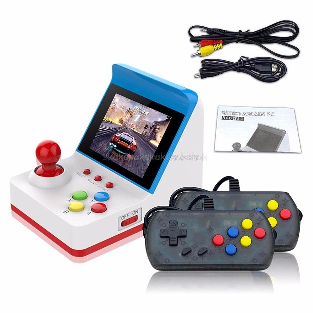 Portable Retro Mini Handheld Game Console 3 Inch 8bit 360 Video Classic Games Family Mini Screen Display Console Gift Mr27 19