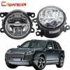 Cawanerl For Porsche Cayenne 955 2002 2015 2 X Car Styling LED Bulb Fog Light DRL