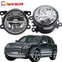 Cawanerl For Porsche Cayenne 955 2002 2015 2 X Car Styling LED Bulb Fog Light DRL