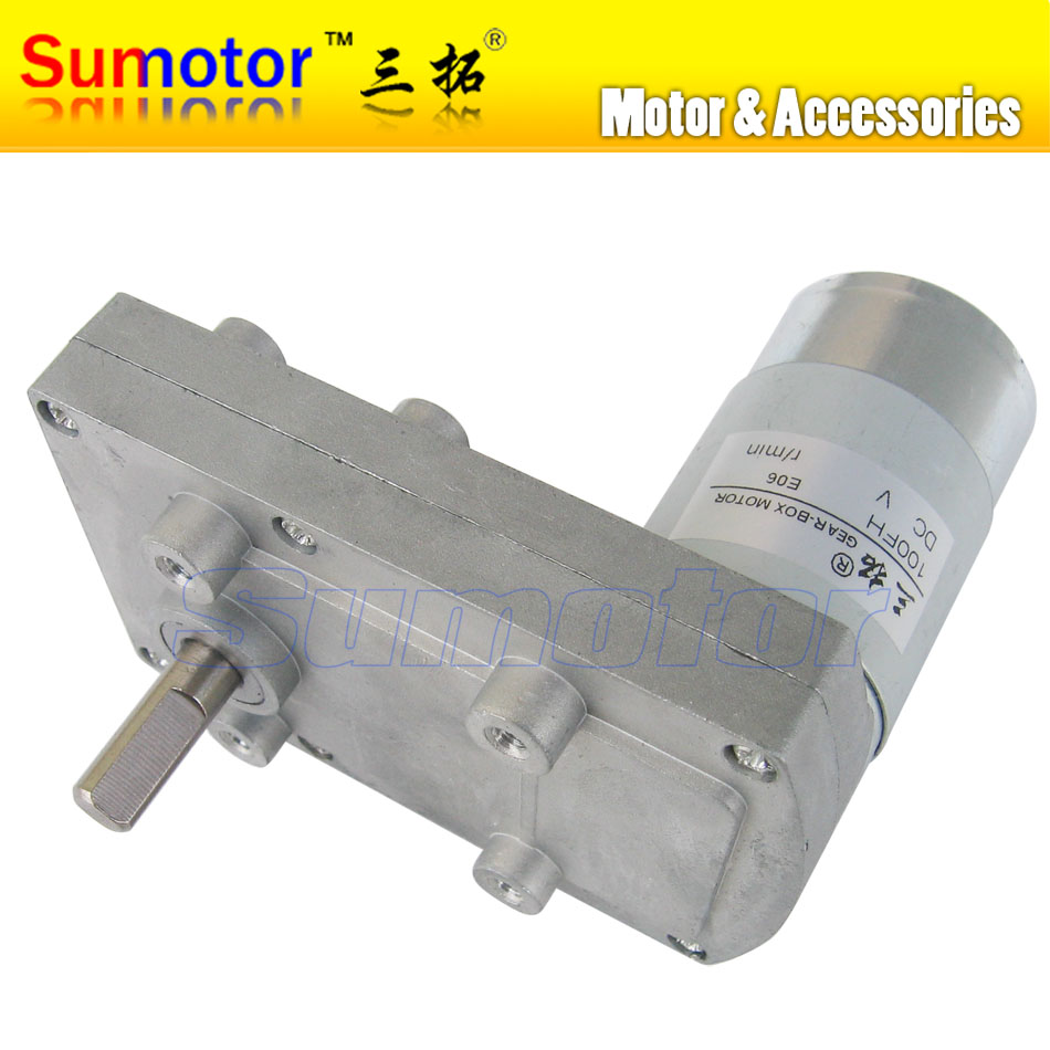 где купить 100FH DC 12V 24V plate gearbox All metal gear Electric reducer motor Reversible Tank model Electric curtain Robot PTZ Camera DIY дешево