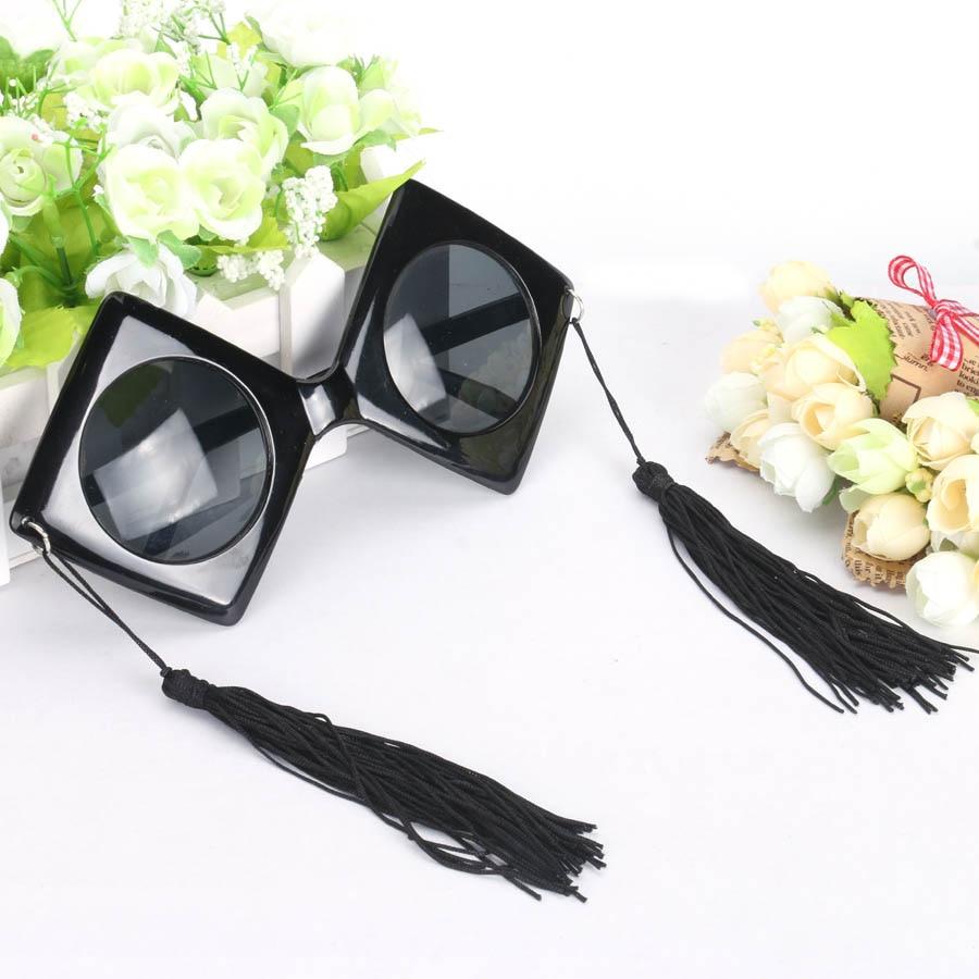 Vintage Black Trencher Cap Glasögon Party Mask Props Cosplay - Semester och fester - Foto 6