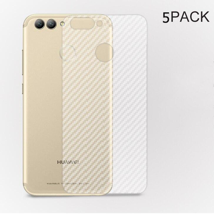 5 PACK 3D Film de protection en fibre de carbone mat pour Huawei Nova 2 Plus protecteur d'écran arrière pour Nova Plus (pas de verre trempé)