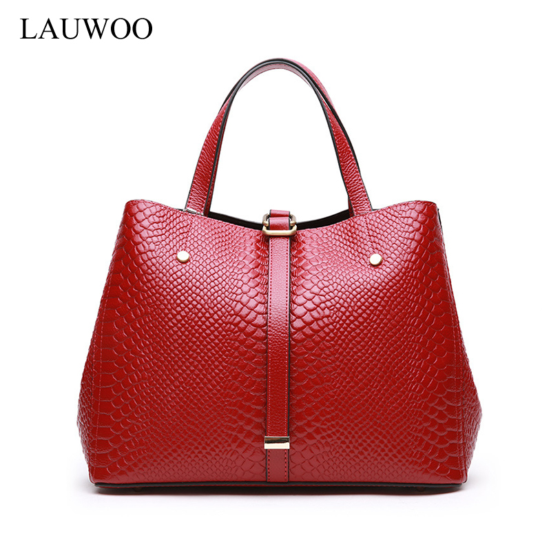 LAUWOO Women fashion serpentine prints leather handbag Female Casual Crossbody Bag lady large shoulder bags hobos tote bag spring new elegant leather women handbag smooth skin lady shoulder bags female small casual totes cover zipper crossbody packs