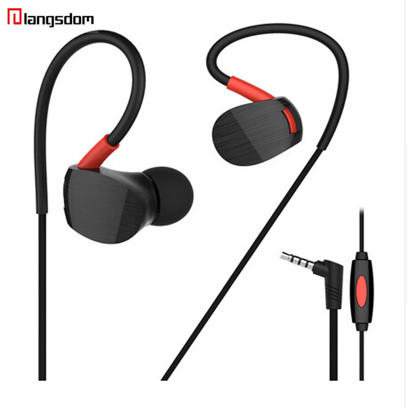 Langsdom MS93 in ear Earphone 3.5MM Wired earbuds headset sports Running Earphones For Mobile Phones original xiaomi mi hybrid earphone in ear 3 5mm earbuds piston pro with microphone wired control for samsung huawei p10 s8