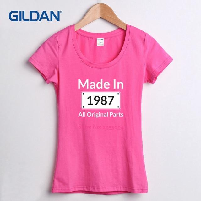 Design T Shirt Online Made In 1987 All Original Parts 30th Birthday Thirtieth Designer Tee