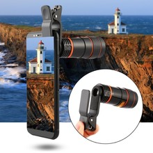 8X 12X Universal Zoom Lens Telephoto Lens Zoom Effect High-definition Lens Long Focus Monocular Phone Telescope for Mobile Phone highpro 55mm 3 0x digital optic super high definition telephoto af lens filter black