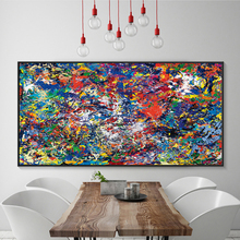 Modern Simple Abstract Color Splash Oil A4 Canvas Painting Art Print Poster Picture Wall Paintings Home Decoration Decor