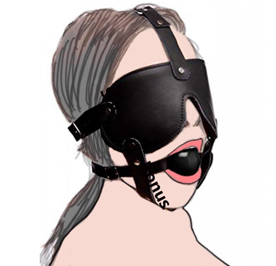 Genuine leather mask no bondage mask punk hood mask gimp leder maske kopfmask