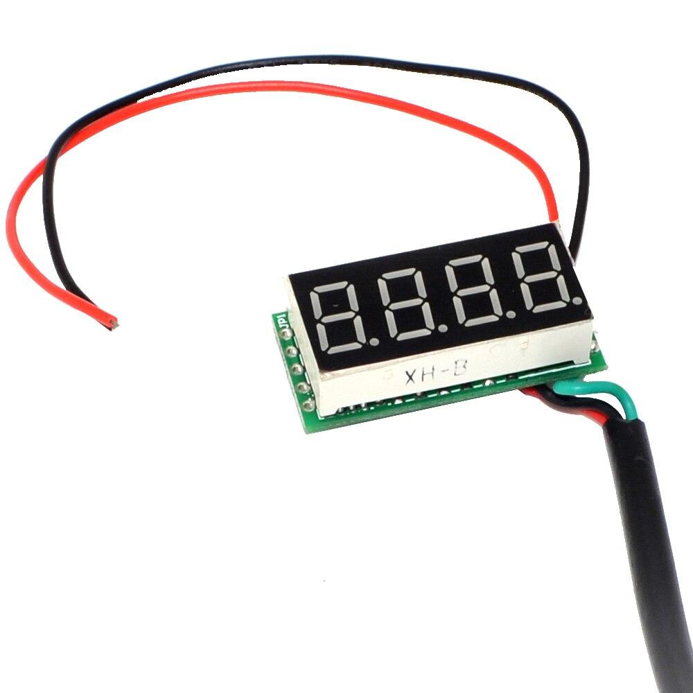 Торговля температура ds18b20 зонд-55 до 125 градусов Цельсия 4 цифровой 0,36 дюймовый термометр Зеленый светодиод+-10000246