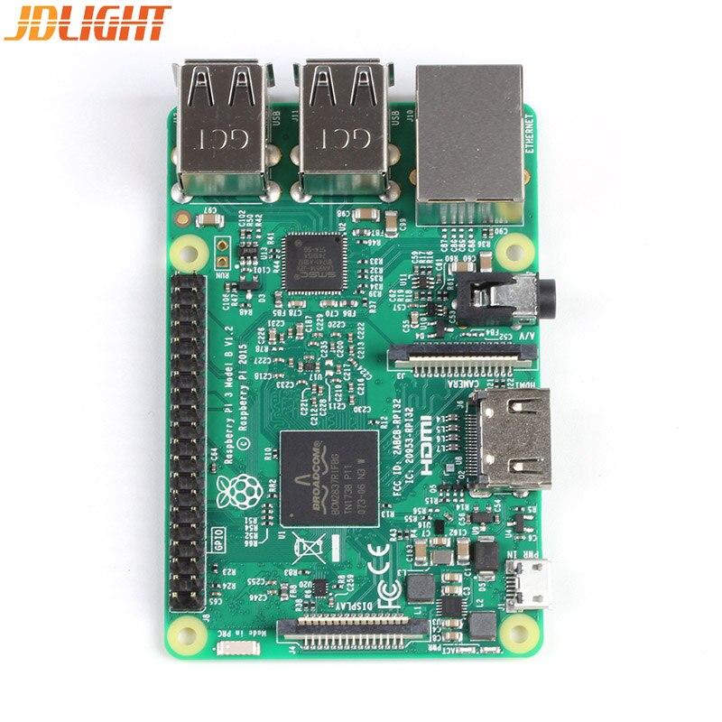 New Original Raspberry Pi 3 Model B Board Pi3 B 1GB RAM LPDDR2 Quad Core Wifi Bluetooth Heat Sink Power Adater Case Cooling Fan