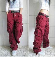 2018 New Arrival Plus Size 5colors Cargo Pants Women Hip Hop Loose Jeans Baggy Pants For Women Free Shipping