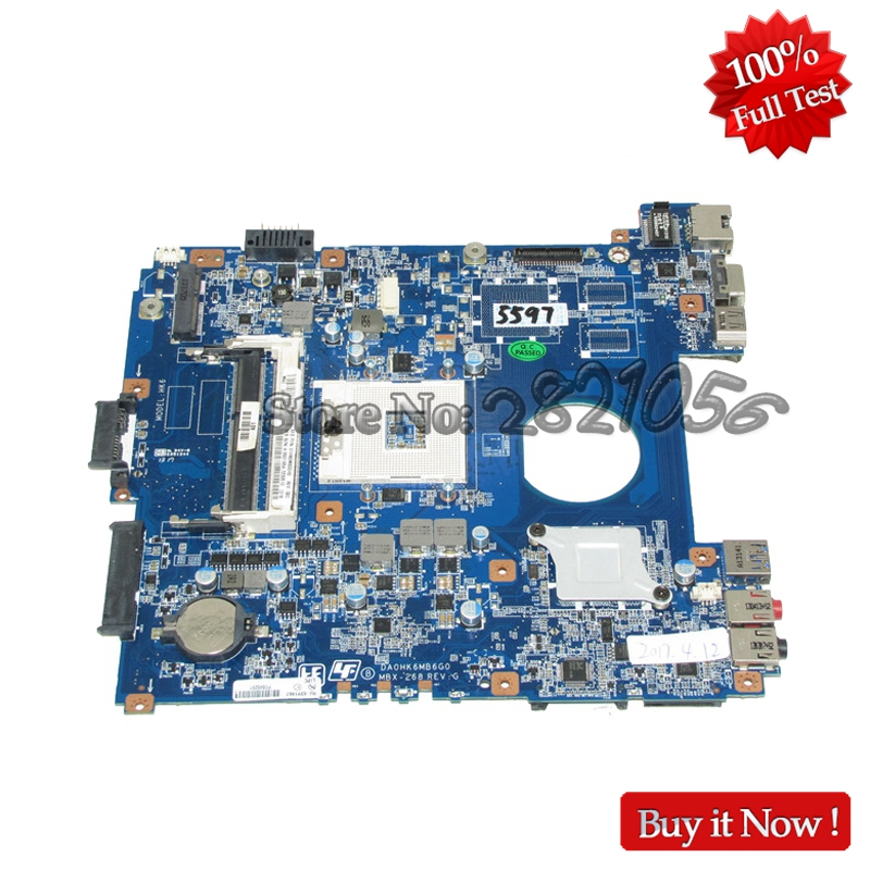 NOKOTION A1893195A MBX-268 MAIN BOARD For Sony SVE141D11 Laptop Motherboard DA0HK6MB6G0 HM76 DDR3 100% tested nokotion a1876092a da0hk6mb6g0 mbx 268 main board for sony vaio sve14 laptop motherboard ddr3 hd7600m video card