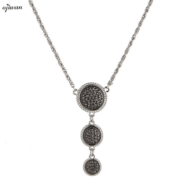 Triple pendant necklace collares mujer beach jewelry art deco three triple pendant necklace collares mujer beach jewelry art deco three tier pendant collar gothic jewelry collane aloadofball Image collections