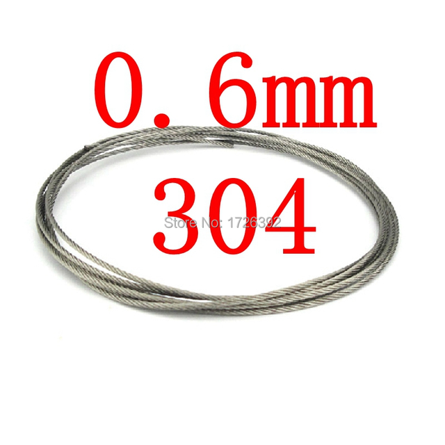 0.6mm 7x7 Authentic 304 Stainless Steel Cable Wire Rope,standing ...