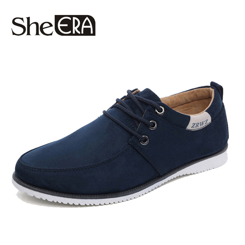 New 2019 Autumn Spring Men Shoes Casual Leisure Male Footwear Fashion Men's Flats   Suede     Leather   Flat Shoes Men Comfortable Shoe