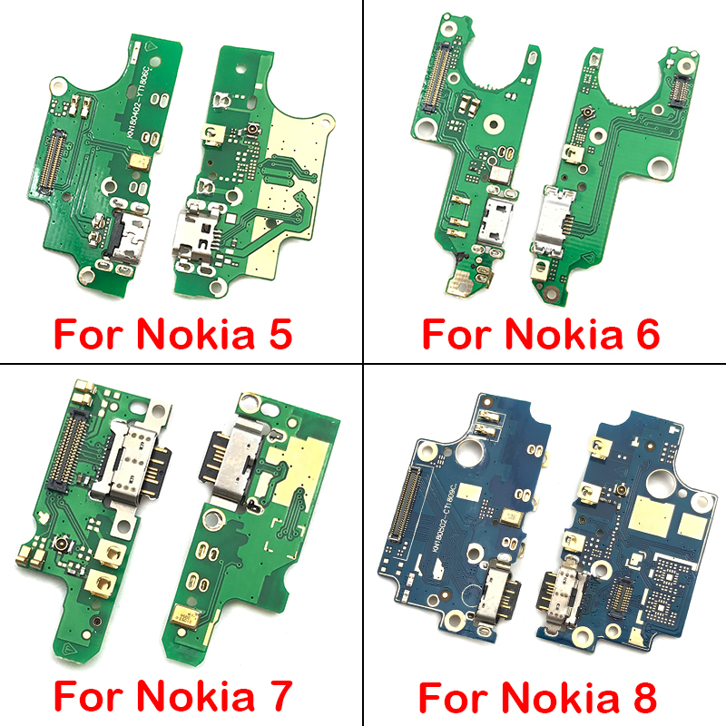 Dock Connector For Nokia 1 2 3 5 6 7 8 X5 X6 X7 USB Power Charging Connector Plug Dock Port Flex Cable Board Replacement Parts