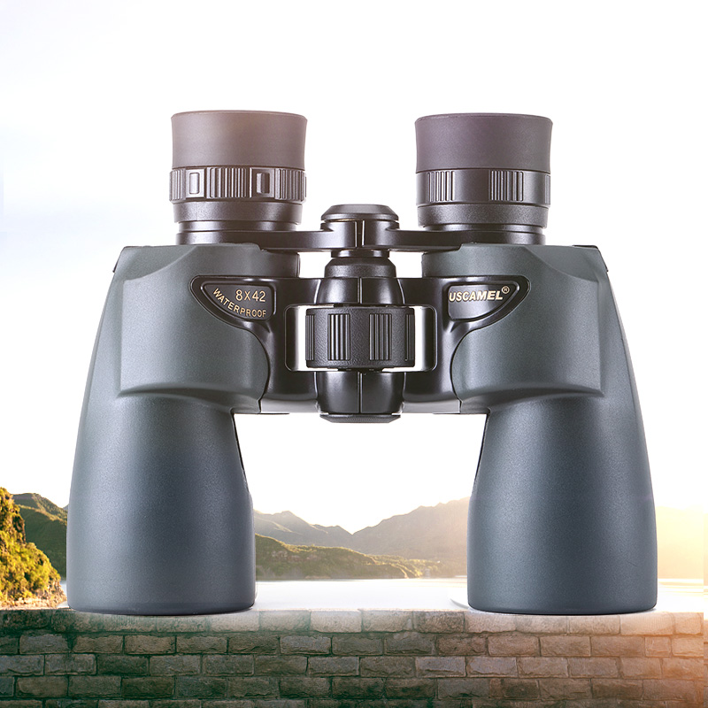 USCAMEL Binoculars 8x42 Professional Hunting Telescope Watching Birds Camping Olive Green in Monocular Binoculars from Sports Entertainment