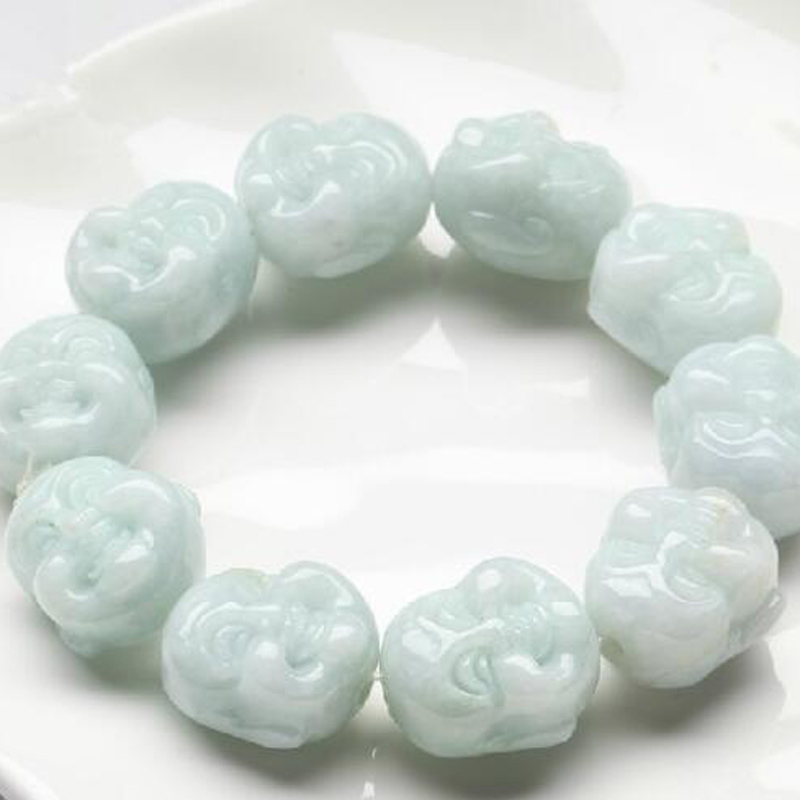 yu xin yuan Fine Jewelry Fashion Natural Emerald Handmake Carved Buddhist Head Bangle Lucky and Blessing Jade Bracelet одежда для рыбалки xin fisheries blessing 131106