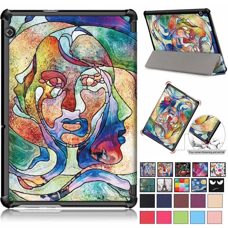 Light weight ultra-thin Magnetic Case for Huawei MediaPad T5 10 AGS2-W09 AGS2-L09 AGS2-L03 AGS2-W19 10.1 Inch Tablet Cover touch panel lcd display 10 1 inch for huawei honor 5 tab 5 ags2 w09chn ags2 w09bhn ags2 al00h touch screen digitizer assembly