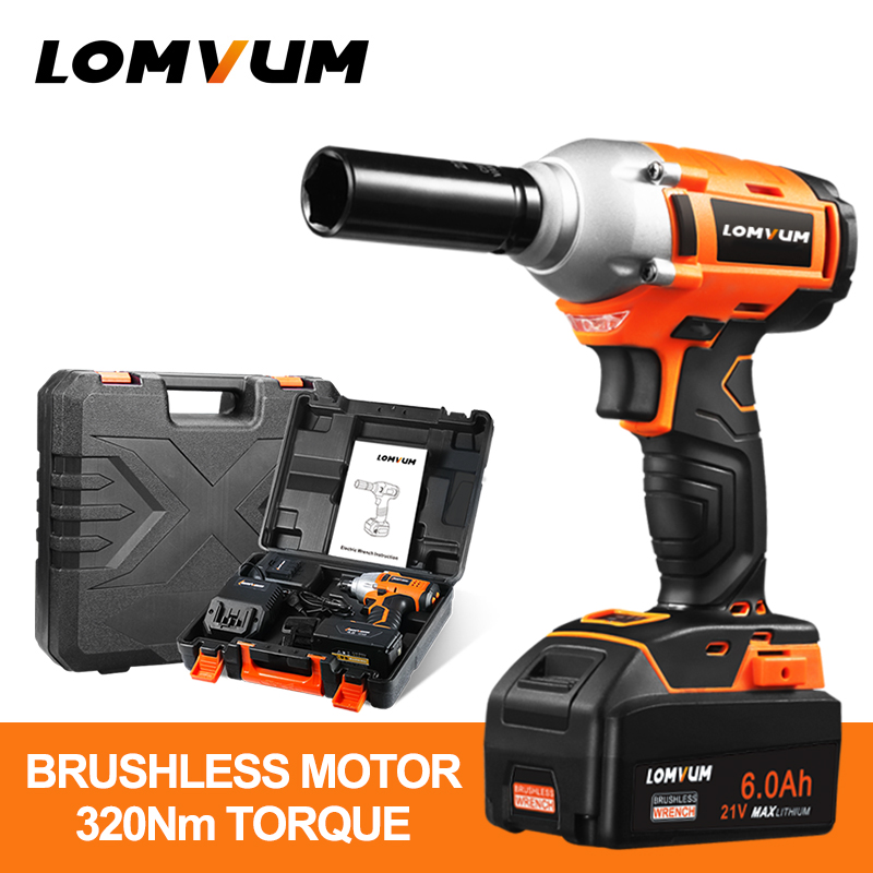 LOMVUM brushless chiave ruota hilti strumento cordless Elettrico Impact wrench dado chiavi pistola vite avvitatore ad impulsi