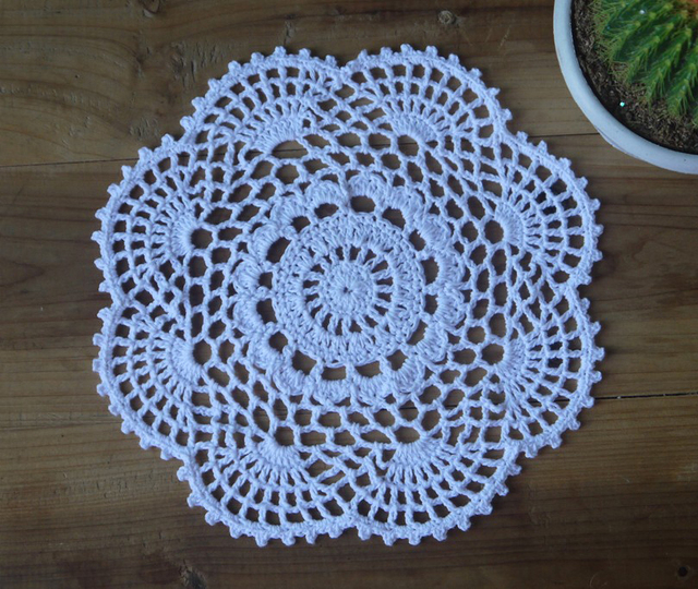 Handmade Crochet Pattern Doilies Placemat 20x20cm Made To Order In