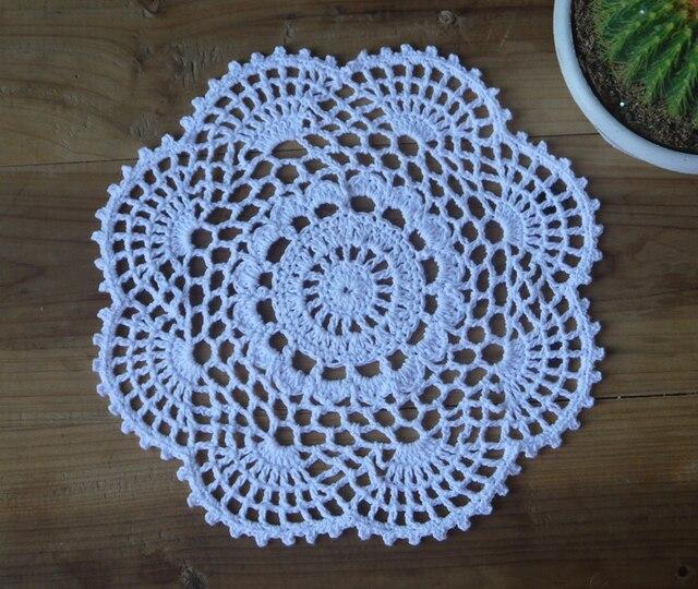 Patrón hecho a mano de Ganchillo Doilies Placemat 20x20 cm hecho a ...