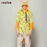 Adult Cartoon Warm Fox Rabbit Onesie Unisex Men Women Flannel Winter Animal Pajamas Long Sleeve Hoodie Couple Sleepwear Pijama