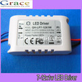 5 pcs / lot LED driver 7 W 8 W 9 W 10 W 11 W 12 W 7-12X1W constant current transformer lighting power supply Free Shipping