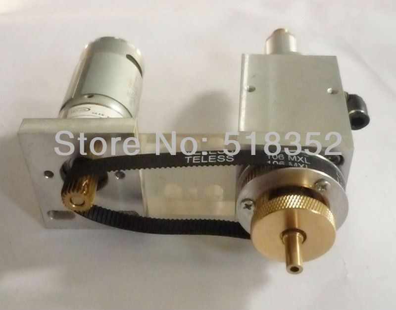 Rotating Assembly Set for Jinma EDM Drilling Machine, including DC Geared Motor Drive, Belt, Isolator Plate gear box drive rotation assembly for zhong gu small hole edm drilling machine for super water pressure durable wear resistant