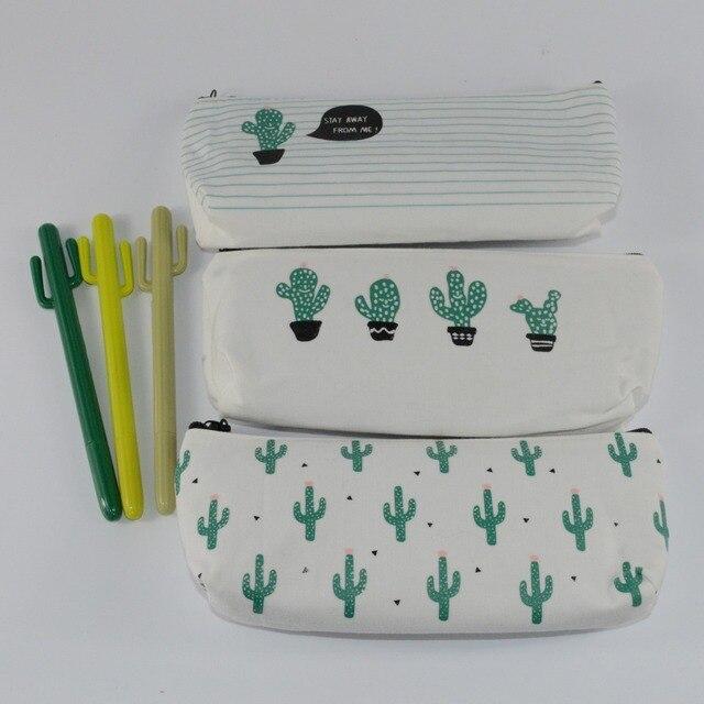 Кактус пеналы Каваи estojo эсколар menina холст estuches школы девушка pencilcase карандаш bag papelaria ручка коробки калем kutu