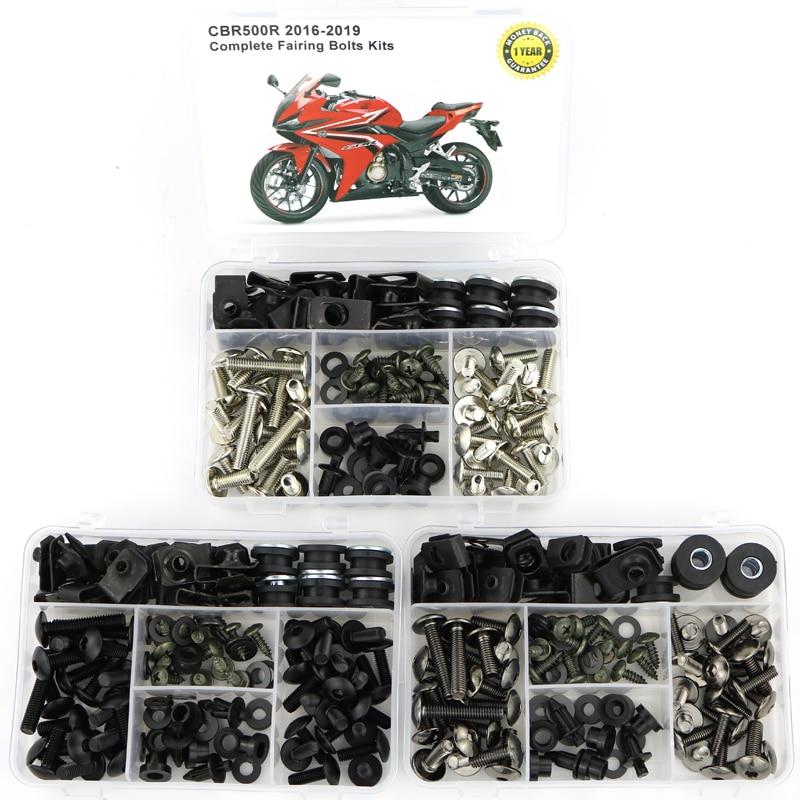 Motorcycle Steel Complete Fairing Bodywork Screws Bolt Kits Nuts For Honda