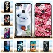 For Huawei Y7 2018 Prime Pro Case Soft TPU Honor 7C Cover Roses Patterned Enjoy 8 Nova 2 Lite Bag