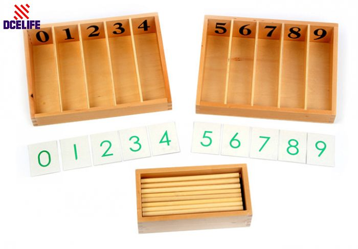 ФОТО Upgraded Montessori Materials Professional Montessori Number Games Rods Education Toy Children Educational Math Wooden Toys
