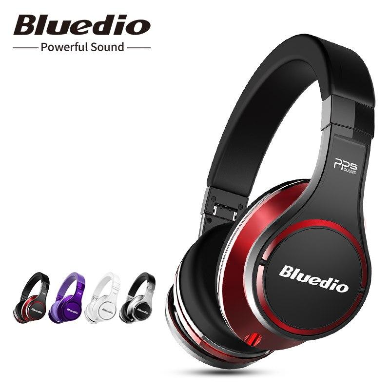 Bluedio U (UFO) sur écouteurs intra-auriculaires sans fil Haut de Gamme 3D Son Breveté 8 Pilotes casque bluetooth construit en microphone pour téléphone
